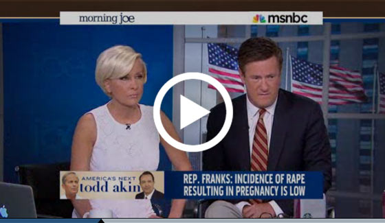 Video Morning Joe Trent Franks