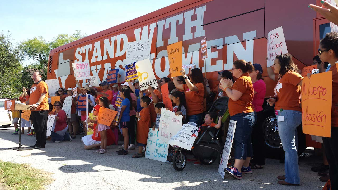 Stand with Texas Women Bus Tour