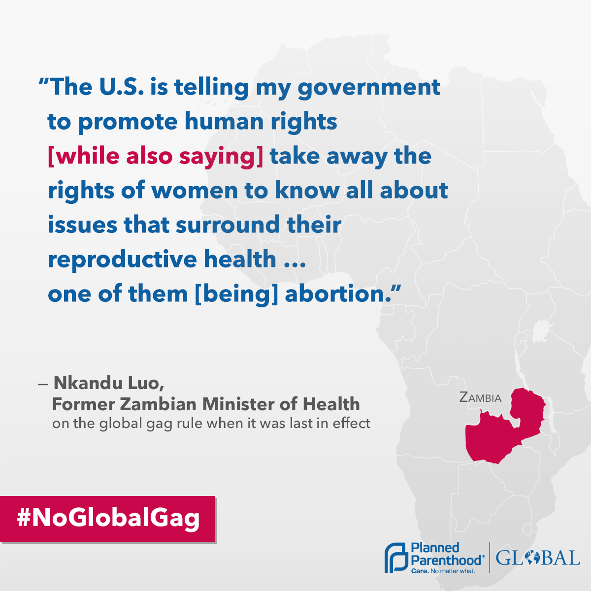 Global Gag Rule and Zambia