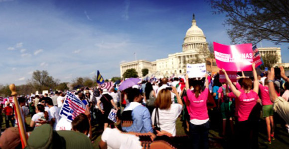 Pictures from the Immigration Reform Rally