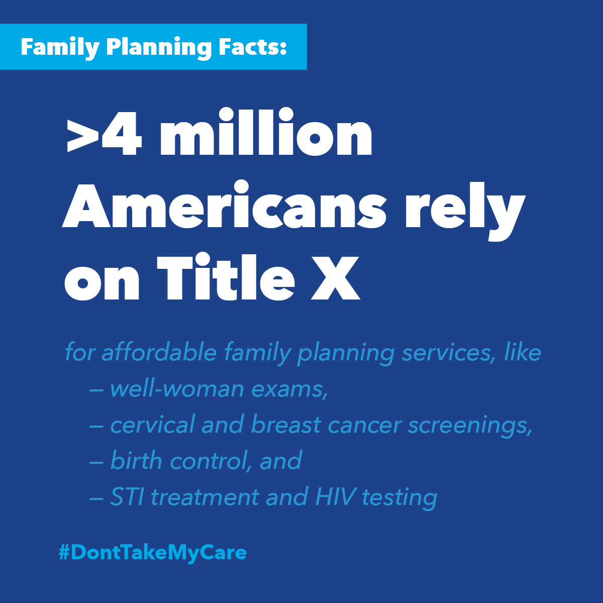 Over 4 million people rely on Title X.