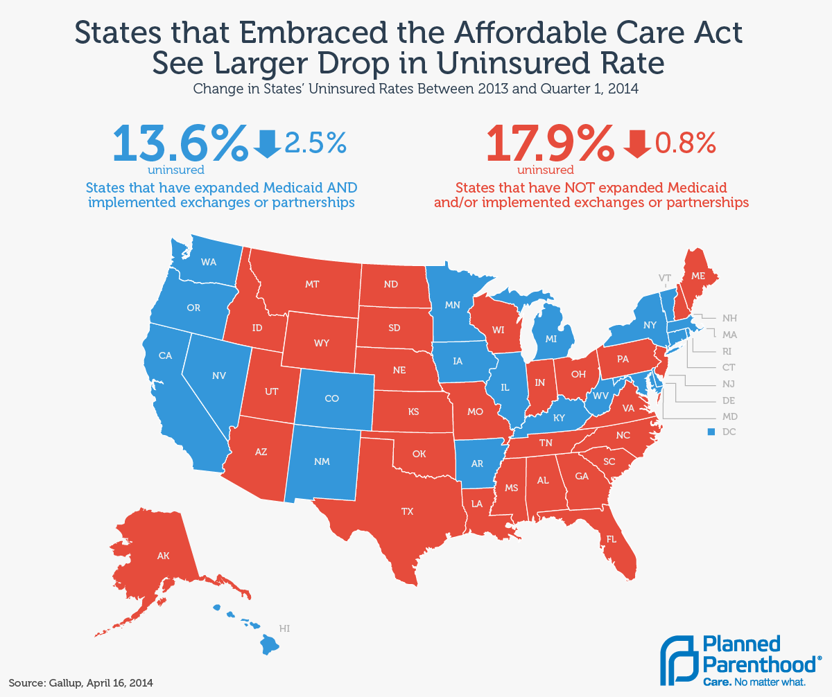 Obamacare Map Uninsured