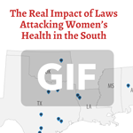 Abortion in The South Map