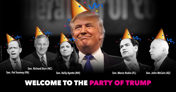 Vote the Party of Trump OUT on November 8th!