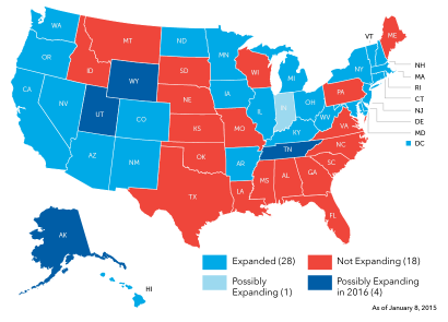 Medicaid Expansion Map - 2015